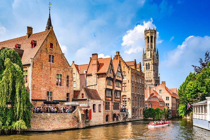 A picturesque canal in Bruges, Belgium
