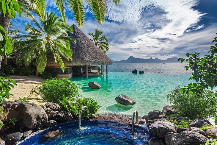 Ocean view from a Tahiti resort