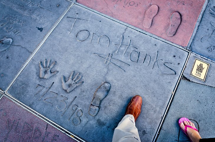 Tom Hanks' prints in front of TCL Chinese Theater