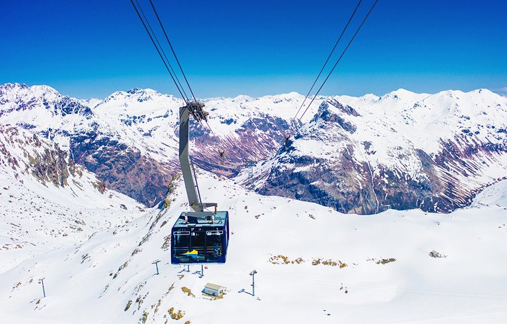 Cable car at Diavolezza, St. Moritz, Switzerland