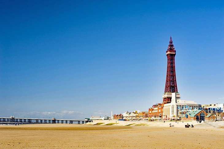 Blackpool Tower y la playa