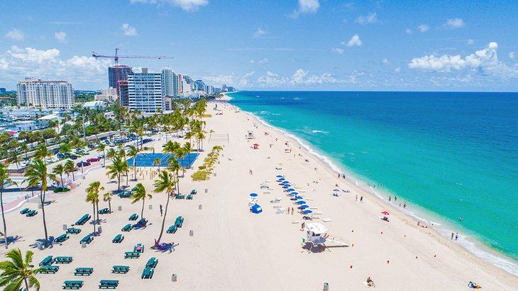 Vista aérea de la playa de Fort Lauderdale