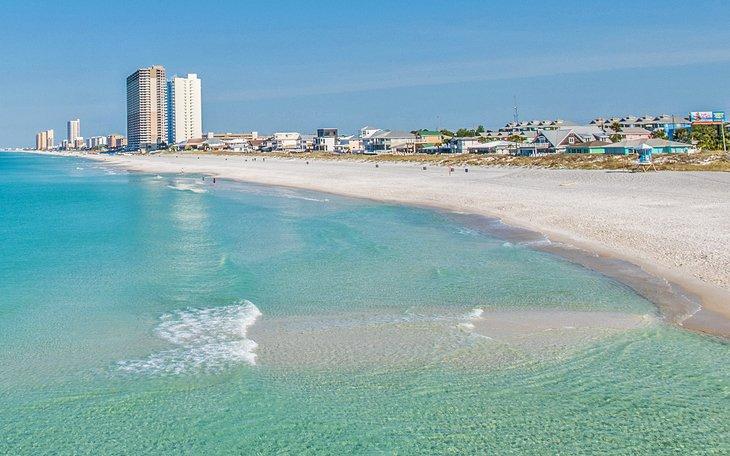 Aguas cristalinas de Panama City Beach