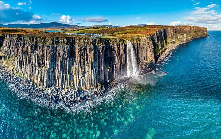 The Mealt Waterfall and Kilt Rock, Isle of Skye