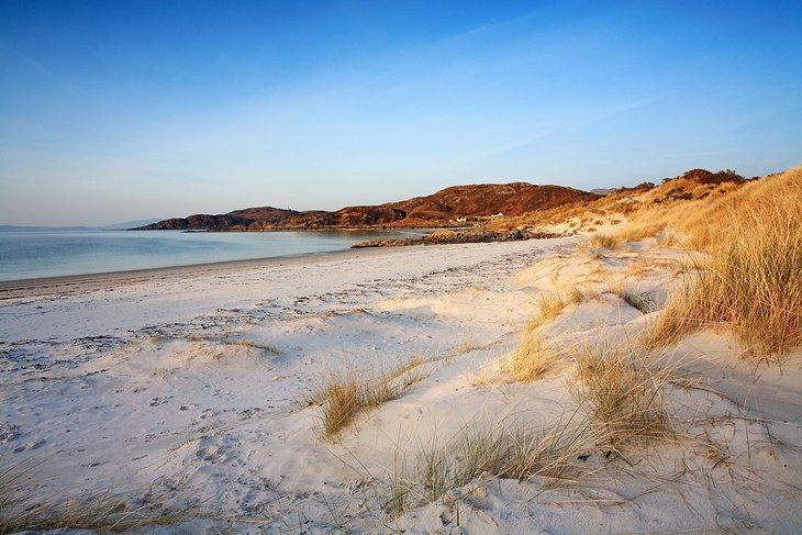 Atardecer en la playa de Camusdarach