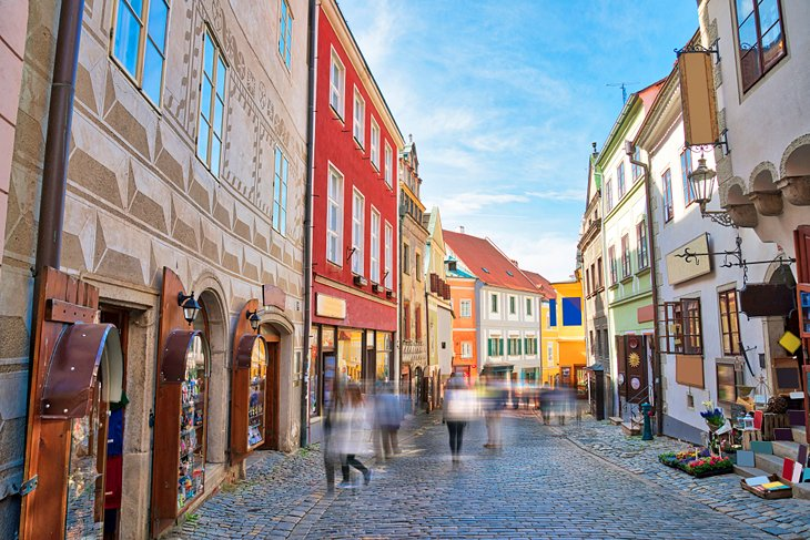 Colorful shops in Cesky Krumlov