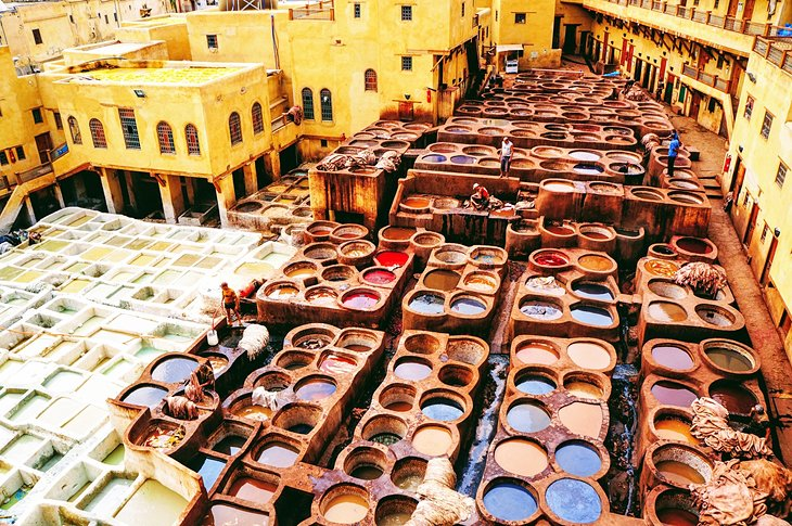 morocco fes top attractions souks district tanneries