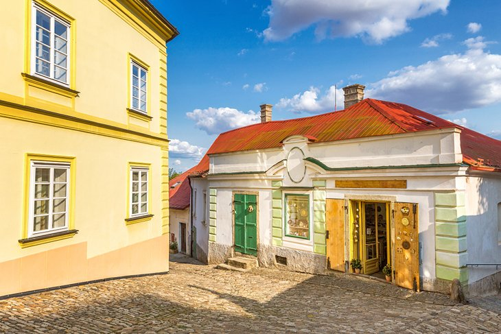 Colorful buildings in the historic center of Kutná Hora