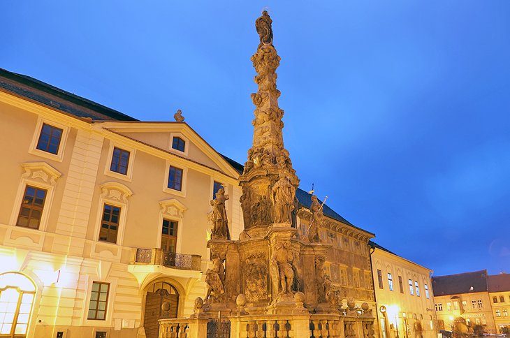 The Palace Kutna Hora and Column of the Virgin Mary Immaculate