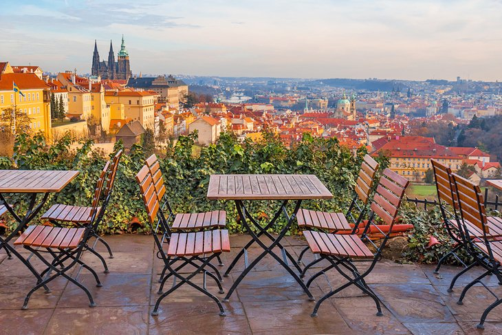Restaurant with a stunning view of Prague