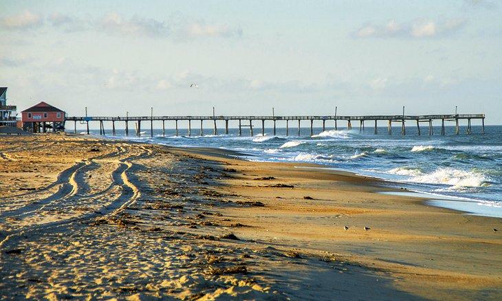 Playa y muelle de Rodanthe