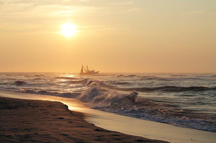 Amanecer en la playa de Topsail