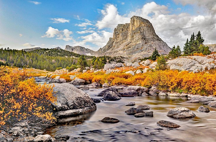 Little Wind River and Buffalo Head Peak, Bridger-Teton National Forest