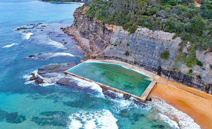 Saltwater swimming pool at the end of Bilgola Beach