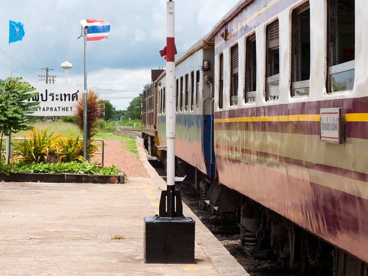 Поезд остановился на вокзале Араньапрате.