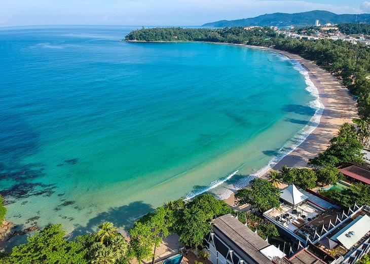 Vista aérea de la playa de Kata