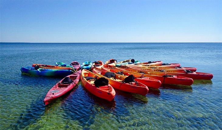 Kayaks en Sister Bay