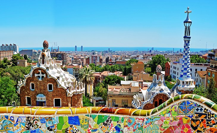 View of Barcelona from the Park Guell
