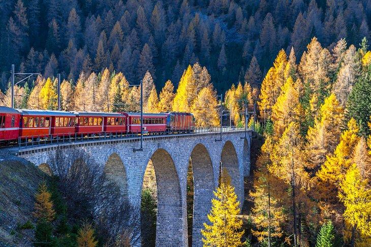 La línea ferroviaria Bernina