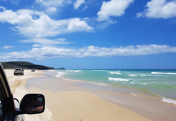 Travesías en cuatro ruedas en la playa de Fraser Island