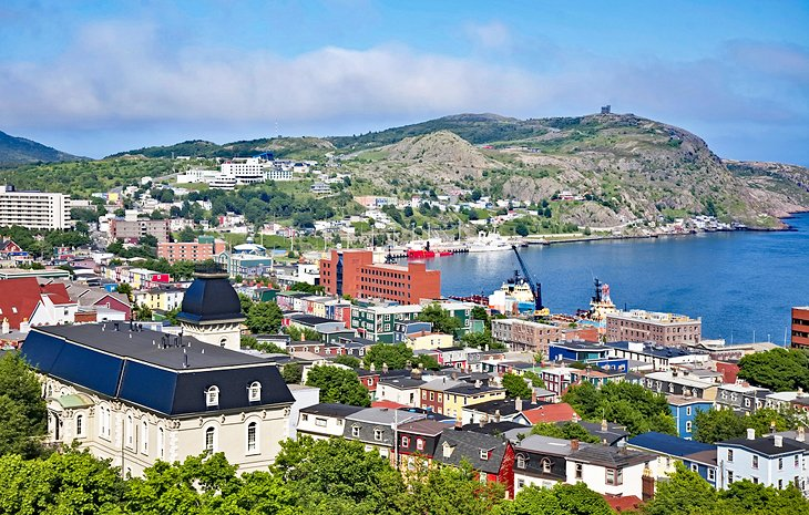 View over Downtown St. John's and the harbor
