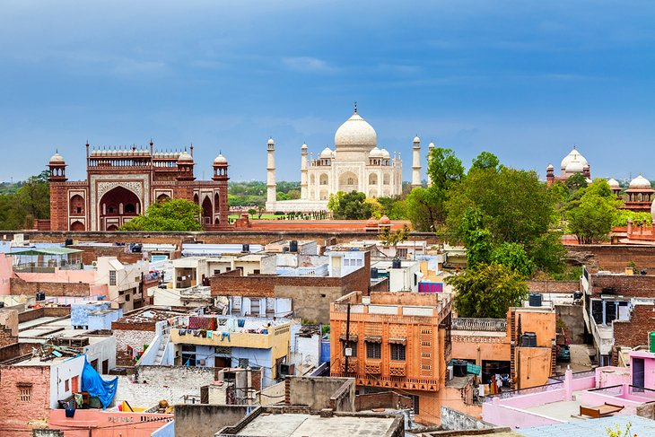 View over Agra's Old City