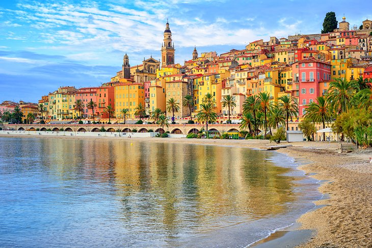 The colorful town of Menton on the French Riviera