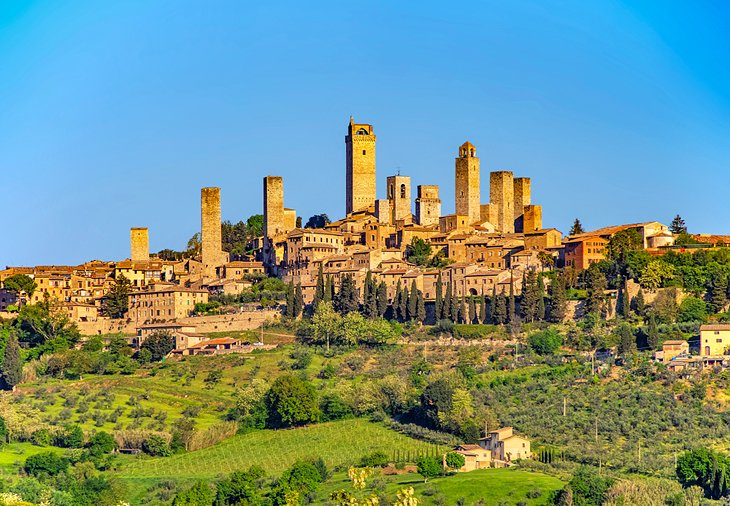 The village of San Gimignano in Tuscany