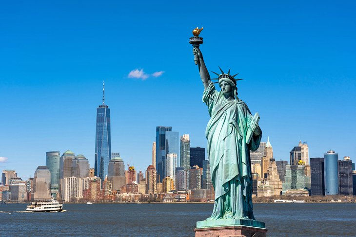 Manhattan and the Statue of Liberty