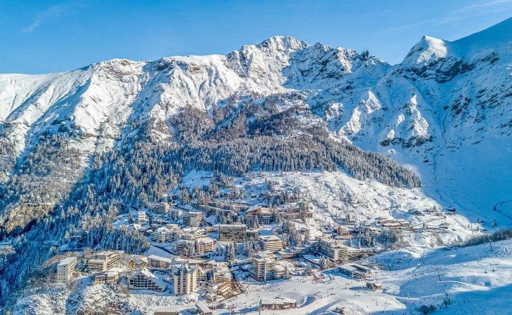 Estación de esquí de Gourette en los Pirineos franceses