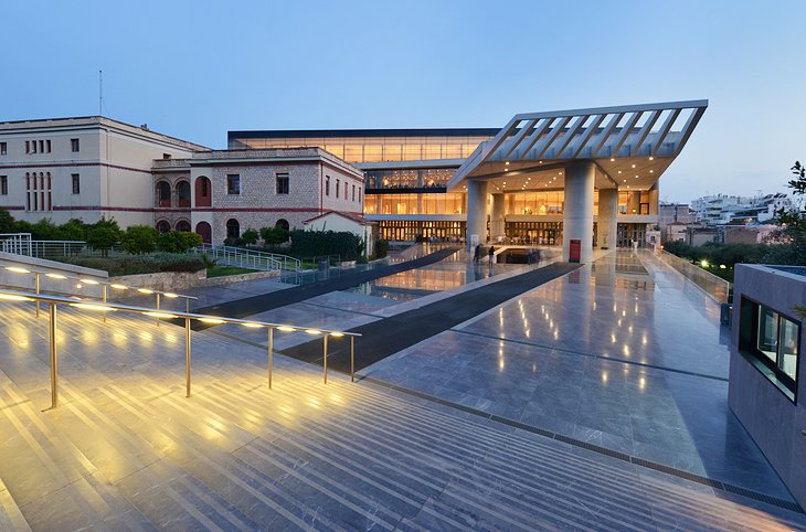 Acropolis Museum in the evening