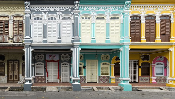 Colorful buildings in George Town