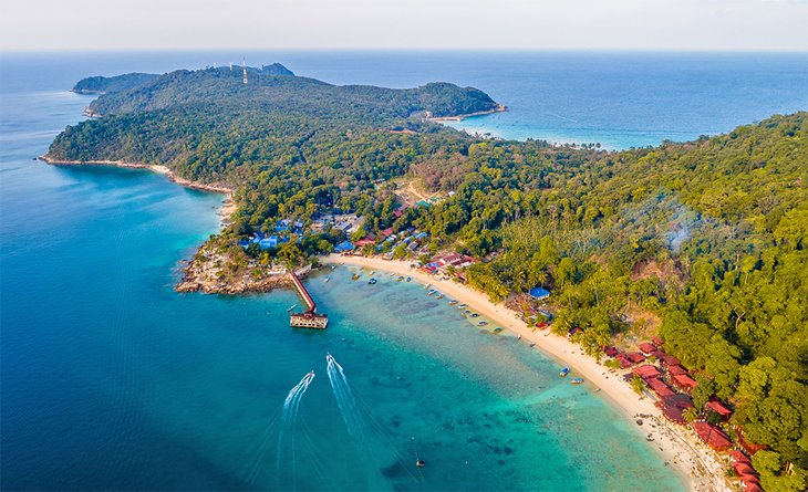 Aerial view of the Perhentian Islands
