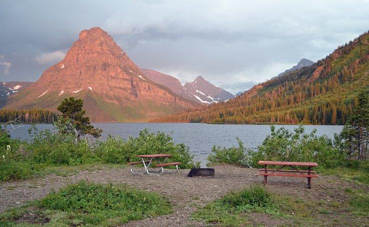 Área de picnic en Two Medicine Campground