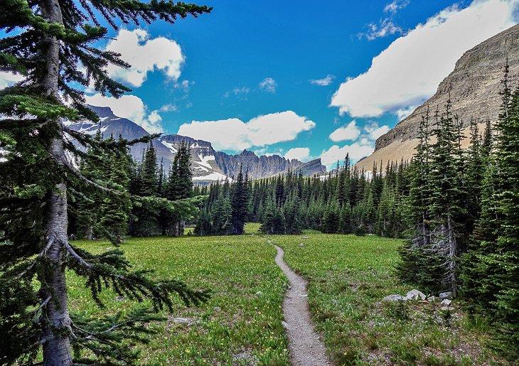 Preston Park sobre el Siyeh Pass Trail