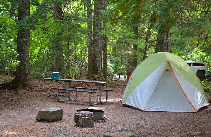 Camping en el Parque Nacional Glacier