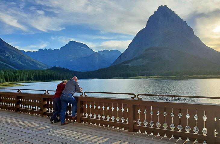 Vista desde Many Glacier Hotel