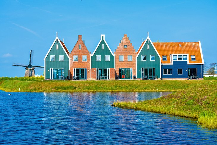 Colorful houses in Volendam