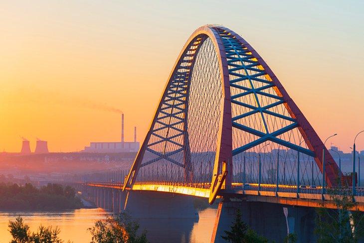Bugrinsky Bridge in Novosibirsk