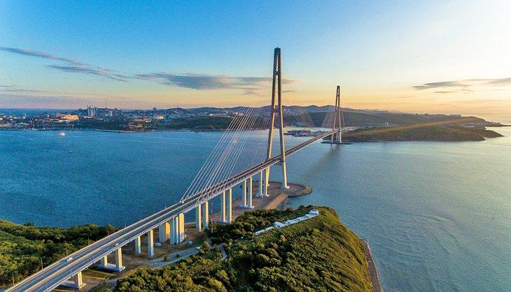 The Russky Bridge in Vladivostok