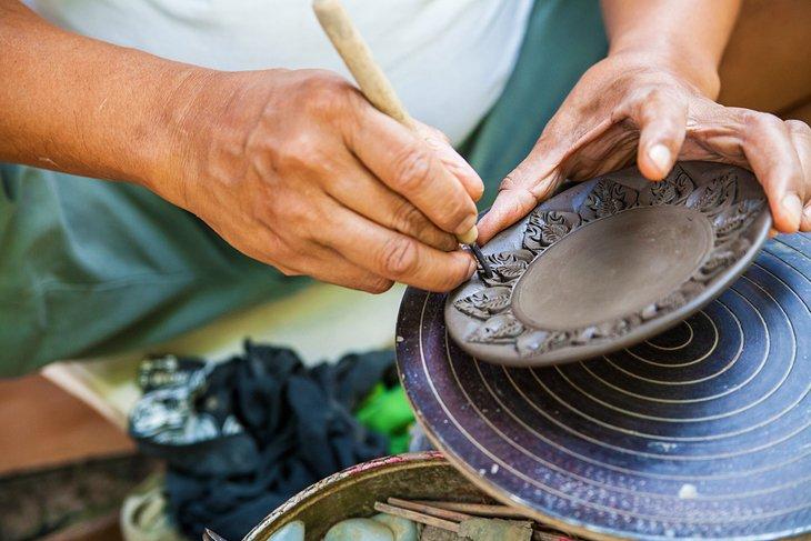 Ручная гончарная мастерская на Кох-Крете