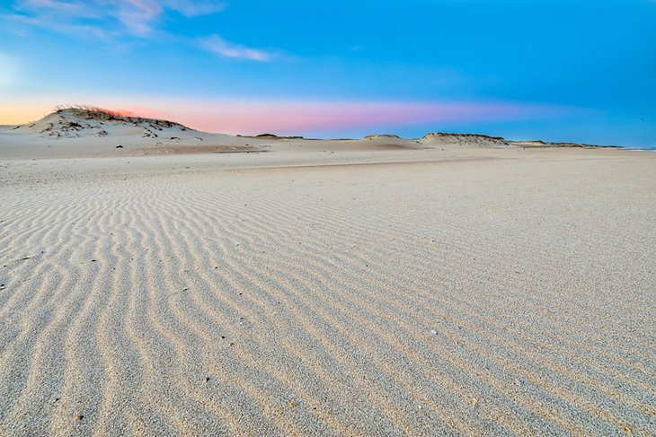 Dunas de arena de Cabo Polonio al atardecer