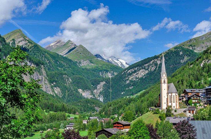 Picturesque St. Vincent Church in Heiligenblut