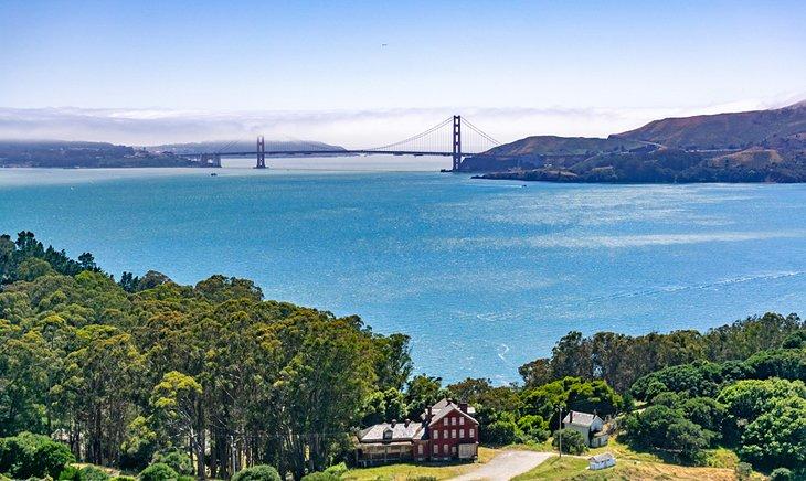 El puente Golden Gate visto desde Angel Island