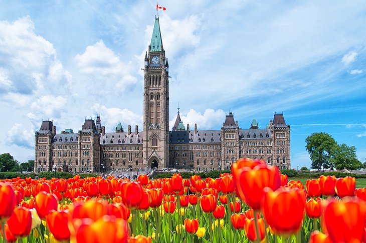 Parliament Hill during the Tulip Festival