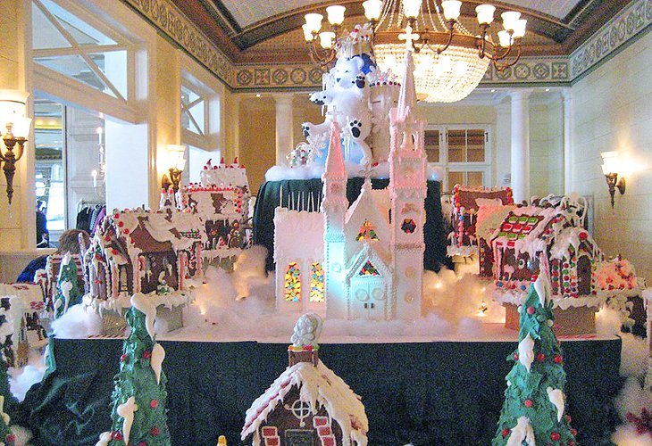 Gingerbread houses at The Broadmoor in Colorado Springs