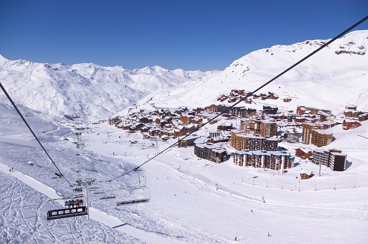 Courchevel is the largest and most famous of the several interlinked ski resorts known as