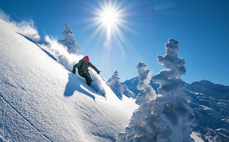 Esquí en nieve polvo fresco en Méribel