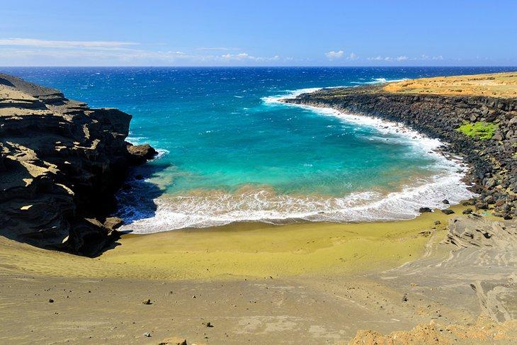 Papakolea Beach (playa de arena verde), Big Island