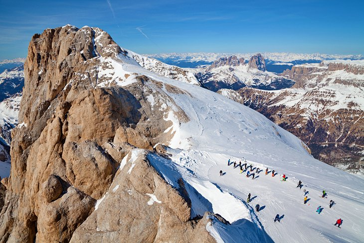 Spectacular scenery at the summit of Marmolada